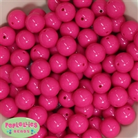 Bulk 16mm Hot Pink Solid Beads