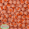 16mm Orange Stripe Beads