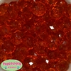22mm Clear Orange Abacus Beads