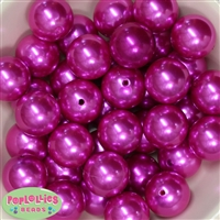 24mm Bright Pink Pearl 10 Beads