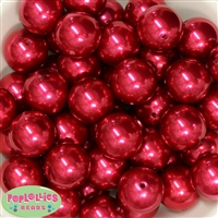 24mm Red Pearl 10 Beads