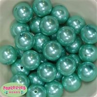 Bulk 24mm Turquoise Faux Pearl Beads