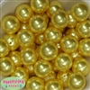 24mm Yellow Pearl 10 Beads