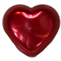27mm Red Pearl Heart