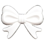 45mm White Bow