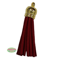 50mm Red Leather Look Tassel