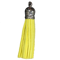 50mm Yellow Leather Look Tassel