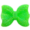 Large Lime Bling Bow