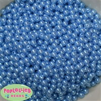 Baby Blue Pearl Spacer Beads 6mm