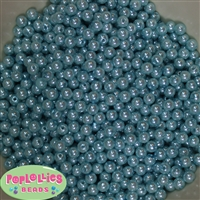 Light Blue Pearl Spacer Beads 6mm