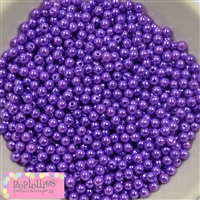Purple Pearl Spacer Beads 6mm