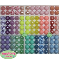 Bulk Mix of Pastel Bubblegum Beads