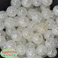 Cream Crackle Beads