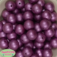 Mauve Crinkle Faux Pearl Beads