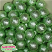 Pastel Green Crinkle Faux Pearl Beads