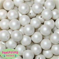 20mm White Matte Pearl Bead