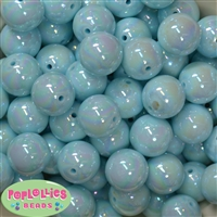 20mm Baby Blue Miracle Beads
