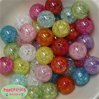 Assorted Colors of Crackle Beads 20pc
