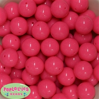 20mm Neon Pink Bubblegum Beads Bulk