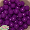 20mm Neon Purple Bubblegum Beads Bulk