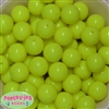 20mm Neon Yellow Bubblegum Beads