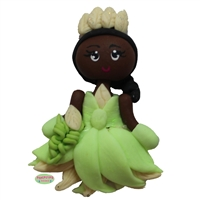 Princess Tiana Ball Gown Polymer Clay Handmade Pendant