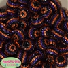 20mm Halloween Stripe Rhinestone Beads