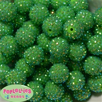 Bulk 20mm Lime Rhinestone Beads