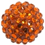 Orange Metallic Rhinestone