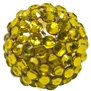 Metallic Yellow Rhinestone