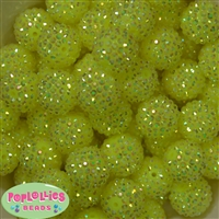 Bulk 20mm Neon Yellow Rhinestone Beads