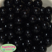 20mm Bubblegum Beads Black