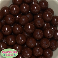 20mm Brown Bubblegum Beads