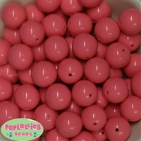 20mm Coral Bubblegum Beads