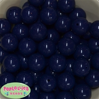 20mm Dark Navy Bubblegum Beads