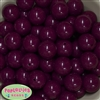 Bulk 20mm Maroon Bubblegum Beads