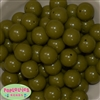 Bulk 20mm Olive Green Solid Beads