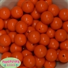 20mm Orange Solid Bubblegum Beads Bulk
