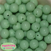 20mm Pastel Green Solid Beads