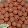 20mm Peach Bubblegum Beads