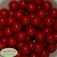 20mm Red Bubblegum Beads Bulk