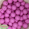 20mm Rose Solid Bubblegum Beads