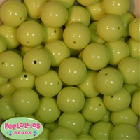 Bulk 20mm Spring Green Solid Beads