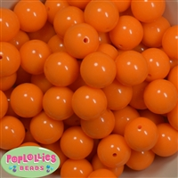 20mm Tangerine Solid Bubblegum Beads