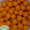 20mm Tangerine Solid Bubblegum Beads Bulk