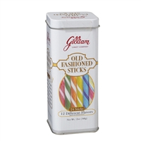 Old Fashioned Hard Candy Sticks Assorted Tin 24ct