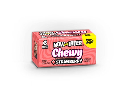 Now and Later Chewy Strawberry - 24/box