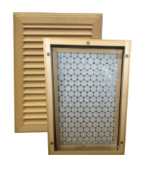 Wall Mount Return Air Grilles - Basswood