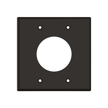 "2 Gang 2"" Wire Port Plate Brown"