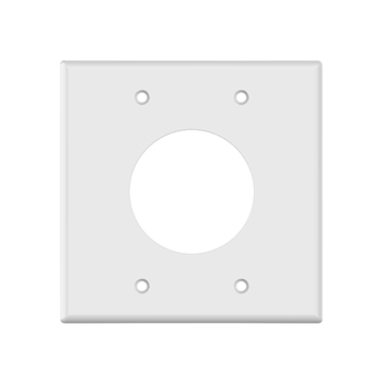 "2 Gang 2"" Wire Port Plate White"